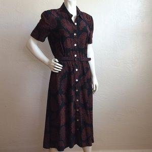 Maggy London silk shirt dress